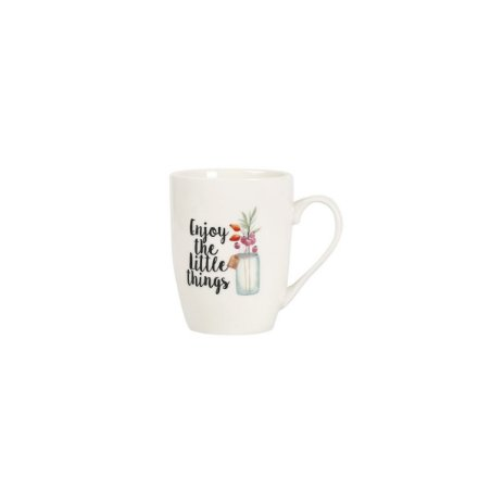 Caneca Enjoy The Little Things Branco 330ml
