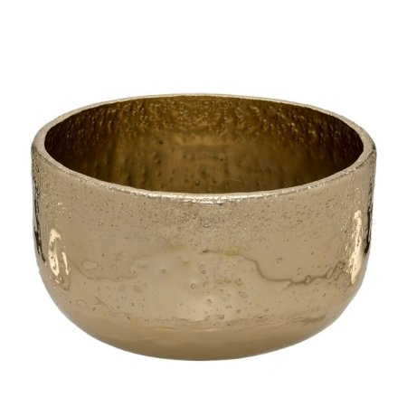 Cachepot Decorativo Metal Dourado