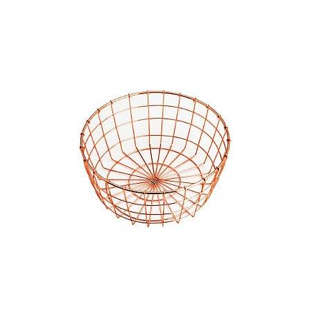 Fruteira Ferro Cromado Rosé 26cm