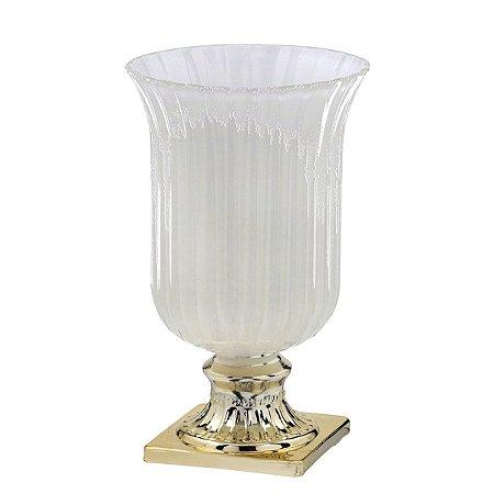 Vaso Taça Vidro Decorativo 25cm