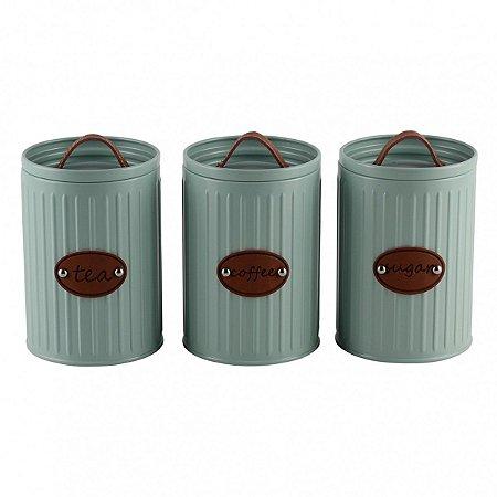 Conjunto 3 Potes Verde BTC
