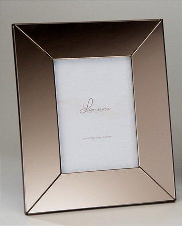 Porta Retrato Heitor Espelho Bronze 13x18cm Limoeiro
