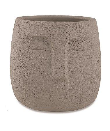 Cachepot Face Cinza 14cm Mart