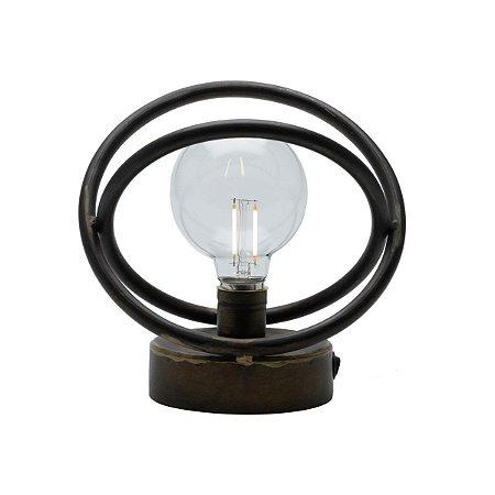 Luminária Metal Escuro 20cm Rojemac
