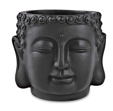 Cachepot Cimento Buda Preto Mart
