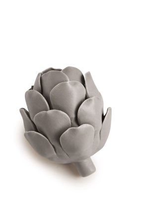 Flor Cinza Decorativa 10cm Mart