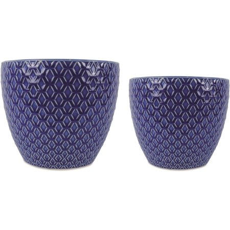Kit Cachepot Azul 2 peças Mart