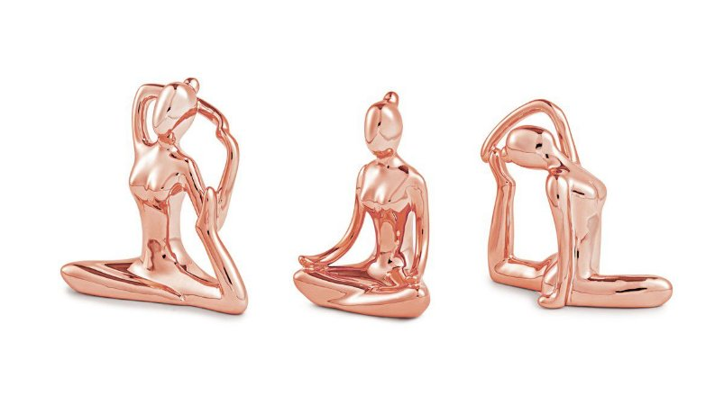 Kit Escultura Yoga Rose Gold Mart