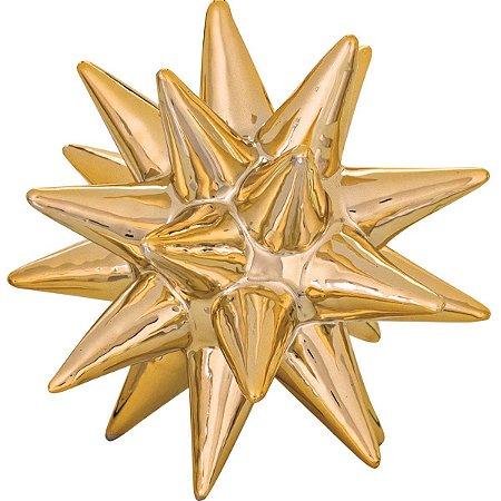 Ouriço Decorativo Dourado 10,5cm Mart