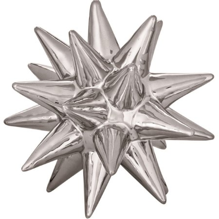 Ouriço Decorativo Prata 10,5cm Mart