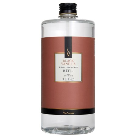 Refil Água Perfumada Black Vanilla 1L Via Aroma