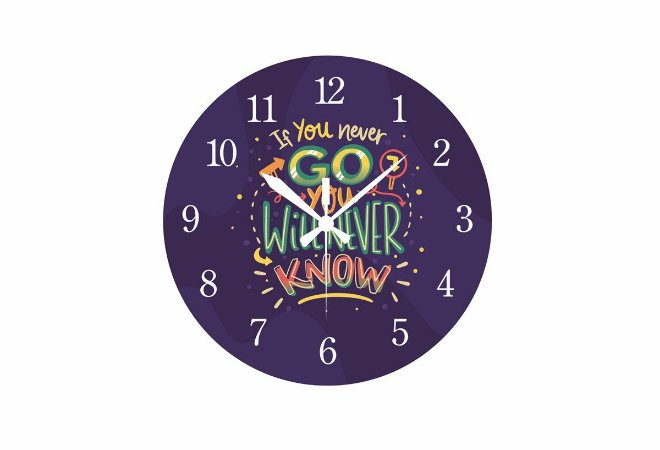 Relógio Never Tecnolaser