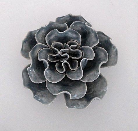 Flor Decorativa Cinza BTC