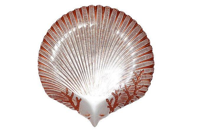 Concha Miami Decorativa Pérola c/ Coral Vylux
