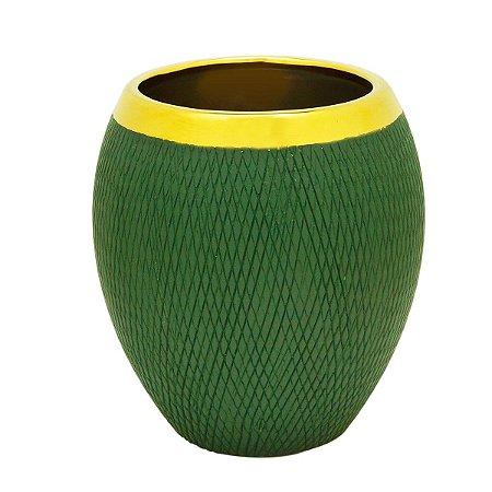 Vaso Decorativo Verde Escuro 11x12cm Rojemac