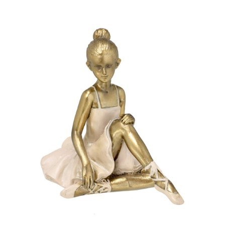 Bailarina Decorativa Bronze e Rosa 9cm Mabruk