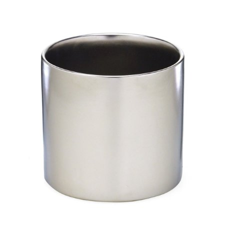 Vaso Decorativo Redondo Prata 12,5cm Mabruk