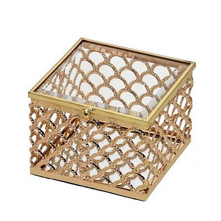 Caixa Quadrada Dourada Mabruk