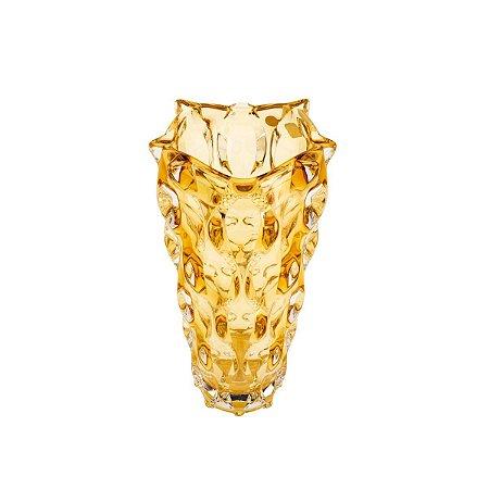 Vaso Cristal Samba Âmbar 31cm Rojemac