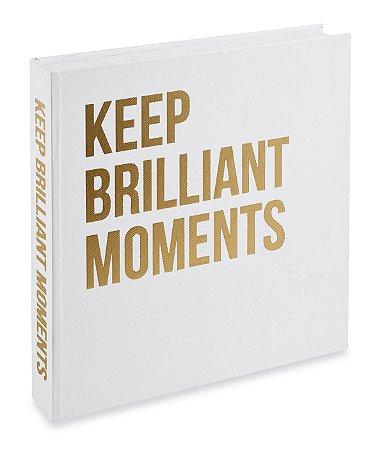 Caixa Livro Keep Brilliant Moments Branco Mart