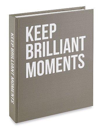 Caixa Livro Keep Brilliant Moments Cinza Mart