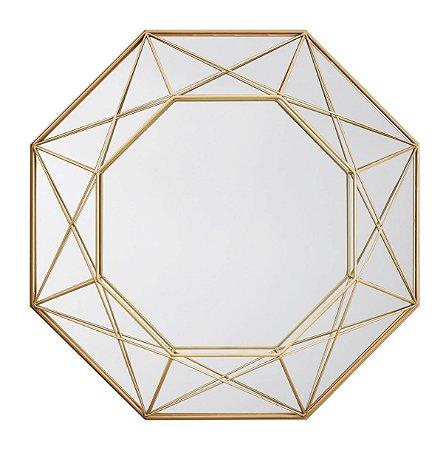 Espelho Metal Dourado Mart