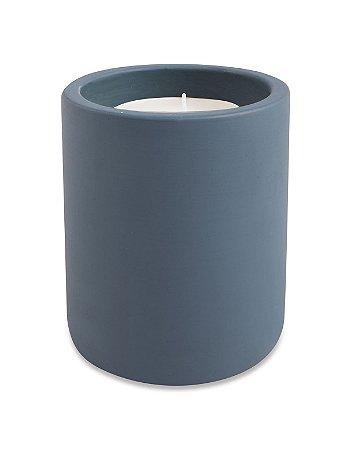 Vela c/ Suporte Cimento Azul 8cm Mart
