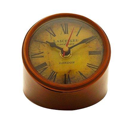 Relógio de Mesa Decorativo Marrom Rojemac