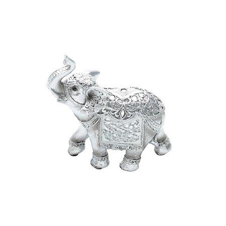 Elefante Decorativo Prata 13 Rojemac
