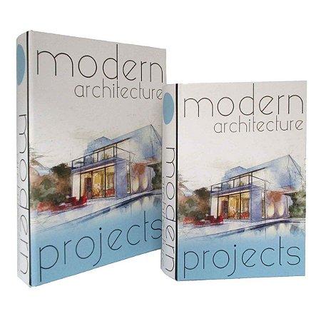 Conjunto 2 Caixas Livros Modern Architecture BTC