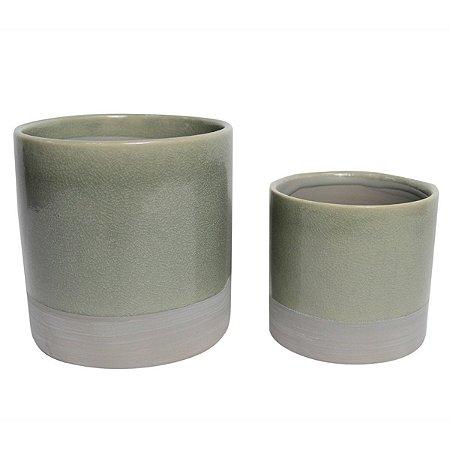 Conjunto 2 Vasos Verde e Cinza BTC