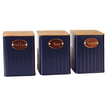 Conjunto 3  Potes Azul BTC
