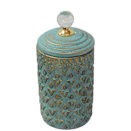 Potiche Decorativo Azul 30cm Nataluz