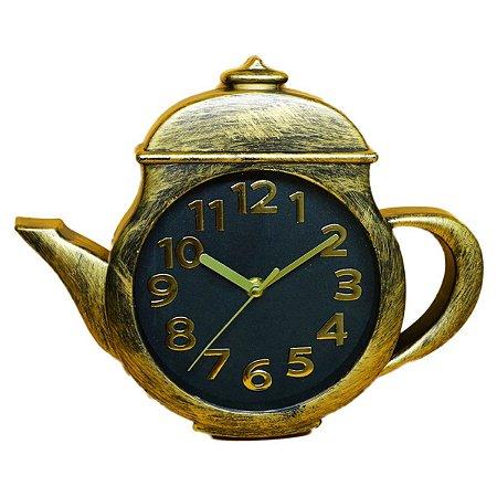 Relógio de Parede Chaleira Dourado Nataluz