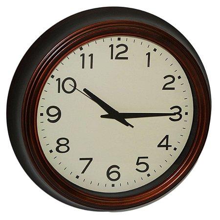 Relógio de Parede Marrom Nataluz