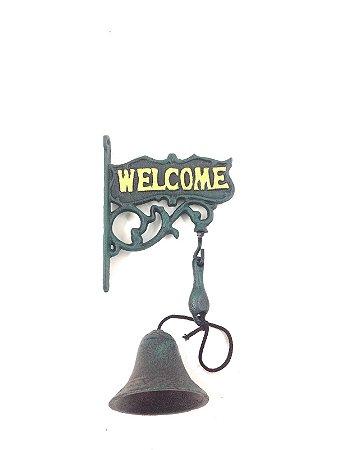 Sino de Parede Welcome Nataluz