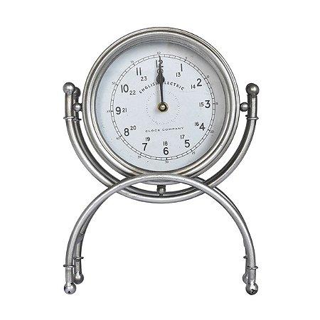 Relógio de Mesa English Prata Ultramarine