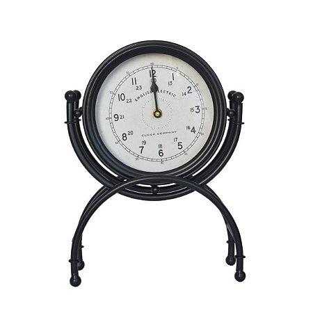 Relógio de Mesa English Preto Ultramarine