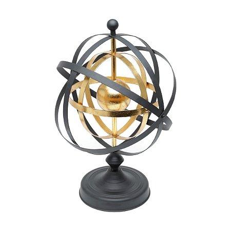 Globo Decorativo Preto e Dourado Rojemac
