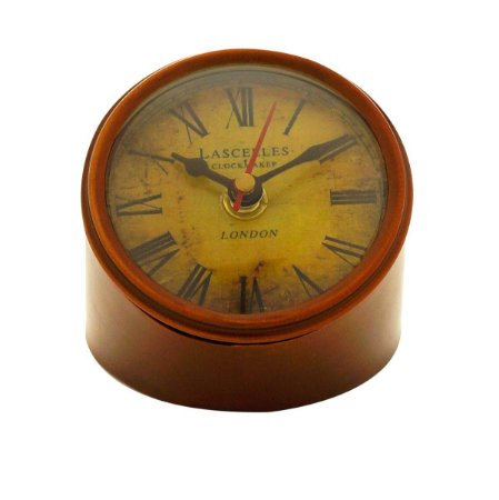 Relógio de Mesa Marrom Decorativo Rojemac