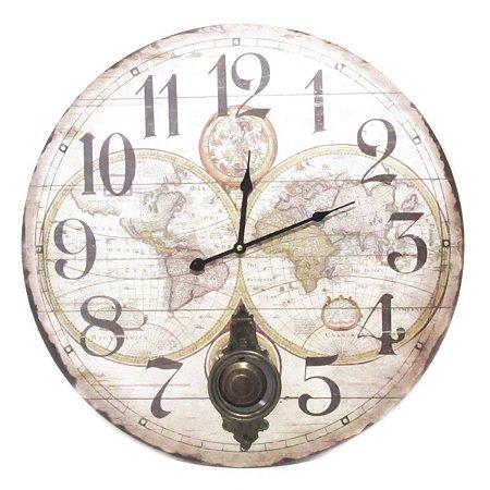 Relógio de Parede Mapas Antica
