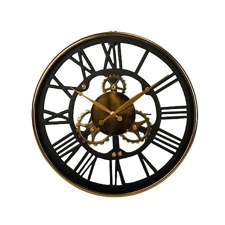 Relógio Decorativo Preto Rojemac