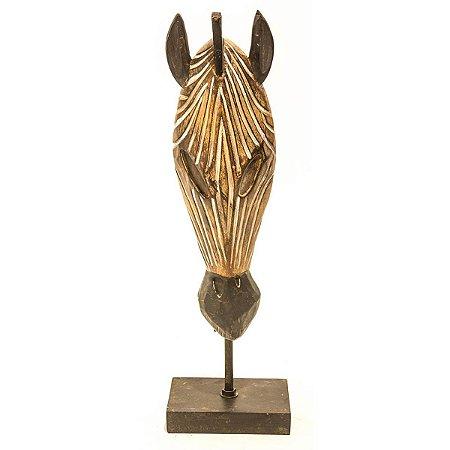 Escultura Zebra Decorativa City
