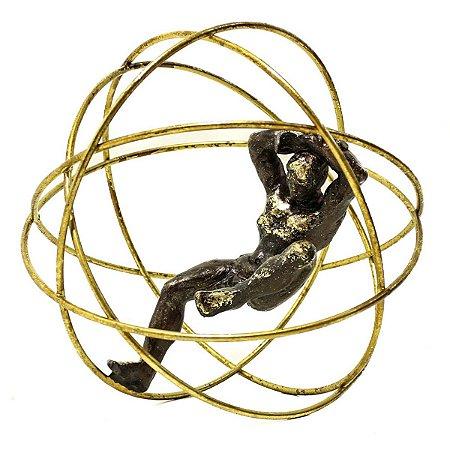 Esfera Dourada Decorativa City
