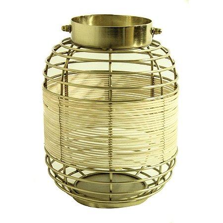Lanterna Decorativa Dourado 30cm City