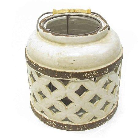 Lanterna Decorativa Vazada Bege City