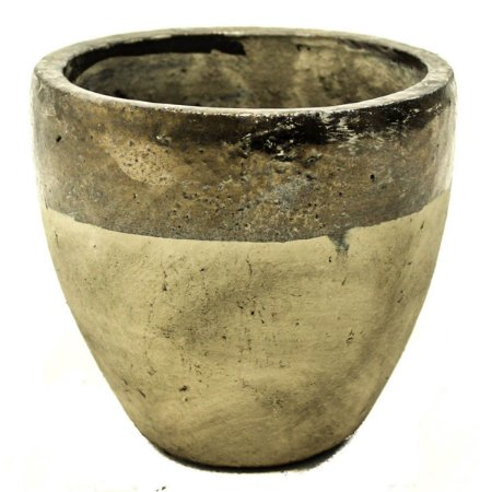 Vaso Cerâmica Bege e Bronze 14cm City