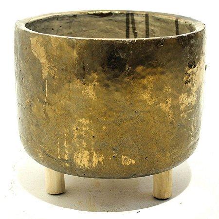 Vaso Cerâmica Bronze 17cm City