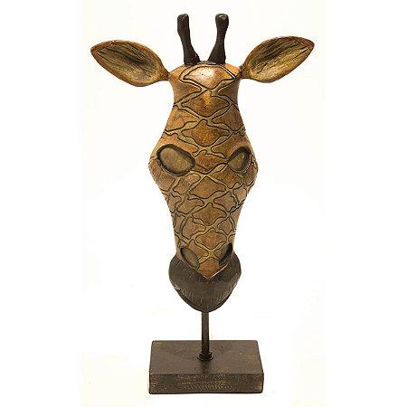 Escultura Girafa Decorativa City