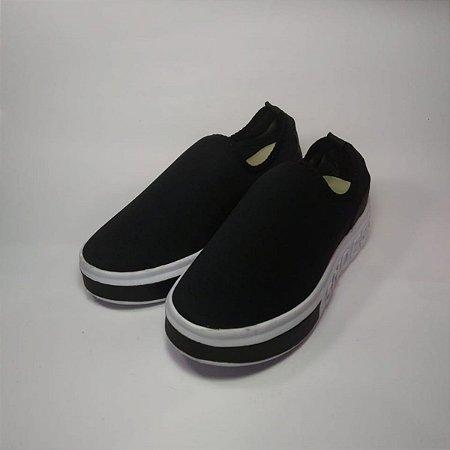 Tênis Meia Menina Mulher Preto Shoes